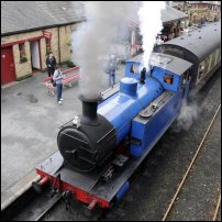 A steam train.