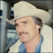 Actor Dennis Weaver sporting a stetson.
