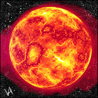 An illustration of the Sun.