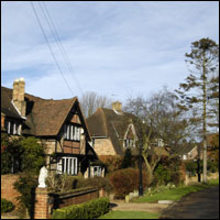 A row of houses in leafy Surrey.