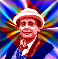 Actor Sylvester McCoy as the seventh 'Doctor Who'. Graphic by Jimster.