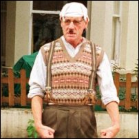 A Gumby (aka Michael Palin) from Monty Python's Flying Circus, a famous pioneer of tanktop-wearing.