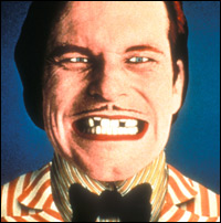 A self-portrait of Terry Gilliam, posing as the man with the amazing dancing teeth.