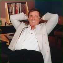 Terry Wogan in the BBC Radio 2 studio.