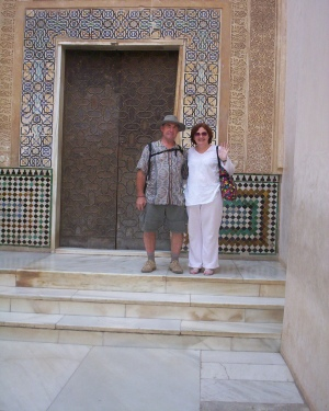 GB and partner at the Alhambra, Spain.
