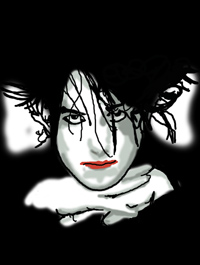 Robert Smith, lead singer of The Cure.
