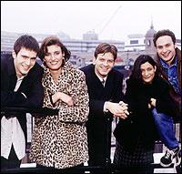 (From left to right) Jack Davenport, Daniela Nardini, Jason Hughes, Amita Dhiri and Andrew Lincoln.