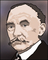 A portrait of author Thomas Hardy.
