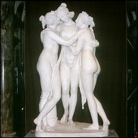 The Three Graces, by Canova.