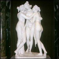 The Three Graces, by Canova.