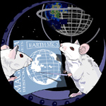 Mice examining blueprints for a new Earth.