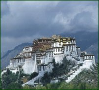 The temple at Lhasa, the capital of Tibet.