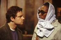 Martin Freeman as Arthur and Mos Def as Ford. © 2005 Touchstone Pictures.