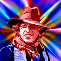 Actor Tom Baker as the fourth 'Doctor Who'. Graphic by Jimster.