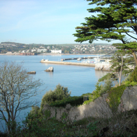 The bay in Torbay, during a bright sunny day.