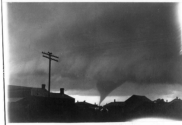Tornado over Kansas.