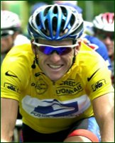 Cyclist Lance Armstrong.