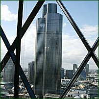 Tower 42, from the 18th floor of 30 St Mary Axe (aka the Gherkin) September 2004.