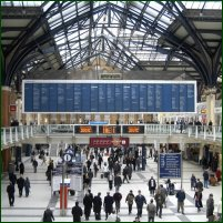 Liverpool Street station in London.