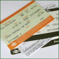 Some UK train tickets.
