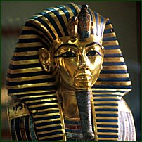 The gold mask of Tutankhamun.
