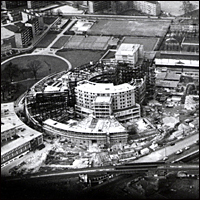 BBC Television Centre under construction in 1958.