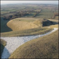A detail from the White Horse of Uffington.