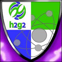 A shield depicting atomic symbols.