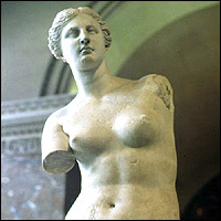 The most famous armless statue in the world - the Venus de Milo.