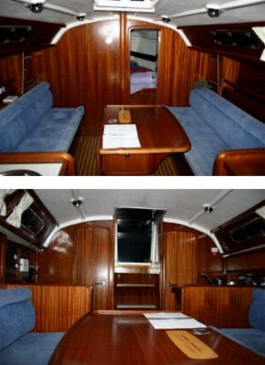 The main cabin looking fore and aft