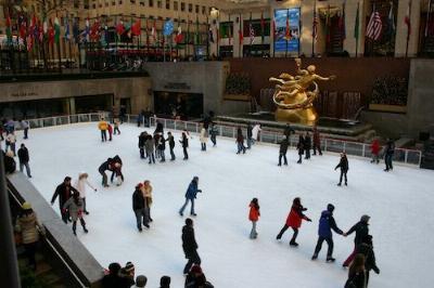 The Rockefeller Center Rink