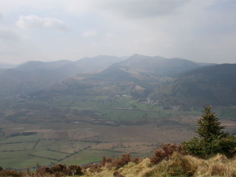 A panoramic view of Wainright mountains.