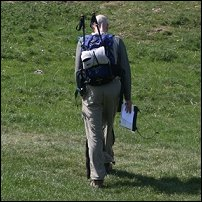 A walker on the Brecon Beacons.