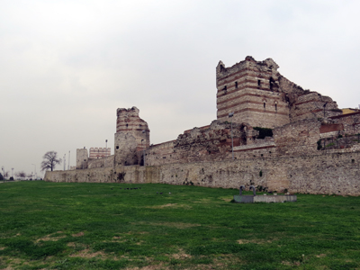 The Walls of Constantinople, modern Istanbul.