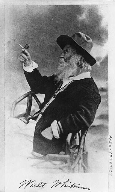 Walt Whitman with friend.
