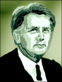 Martin Sheen, star of The West Wing - graphic by Community Artist Jimster.