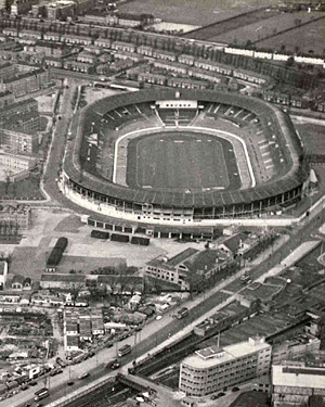 The White City Stadium in Shepherd's Bush, London, built to host the 1908 London Olympics