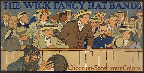 Advert for Wick fancy hatbands.