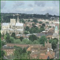 The skyline of Winchester, county town of Hampshire.