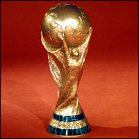 The FIFA World Cup Trophy, which replaced the Jules Rimet Trophy in 1974.
