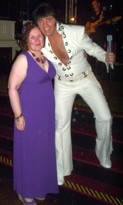Galaxy Babe and Elvis impersonator