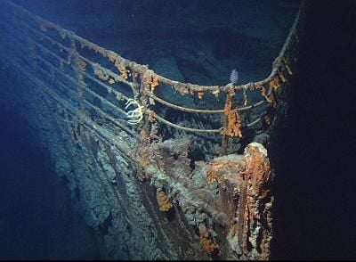The wreck of Titanic today.