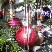 A Christmas tree bauble.