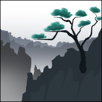 Illustration of Yellow Mountain.