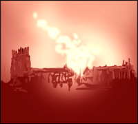 York Minster ablaze