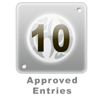 10 Approved Entries