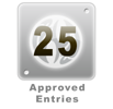 25 Approved Entries