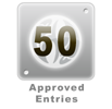 50 Approved Entries