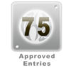 75 Approved Entries